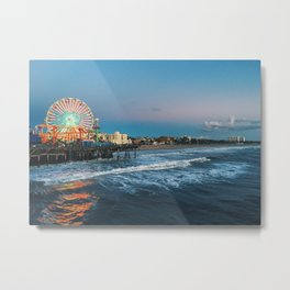 Wheel of Fortune - Santa Monica, California Metal Print