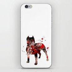 Dark Pitbull iPhone & iPod Skin