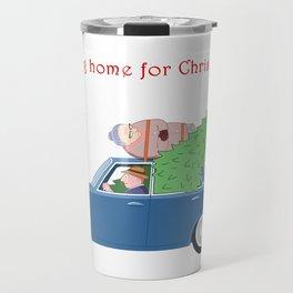 Driving Home for Christmas (white) Travel Mug