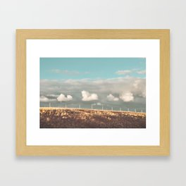 Big Sky Fence Line Framed Art Print