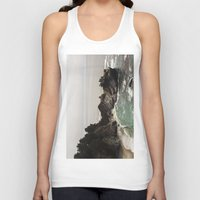 big sur Tank Tops featuring BIG SUR, CA WATERFALL AND COAST by Jeremiah Wilson