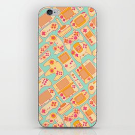 Video Game Controllers in Retro Colors iPhone Skin