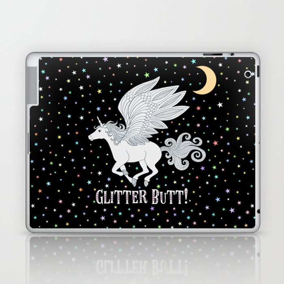 Glitter Butt! Laptop & iPad Skin