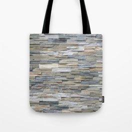 Gray Slate Stone Brick Texture Faux Wall Tote Bag