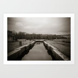 Cold Winter's Day At The Lock Art Print