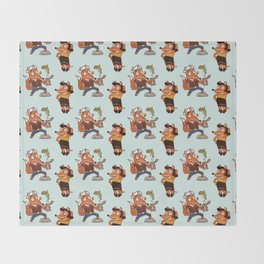 Popeye And Olive Fox Throw Blanket