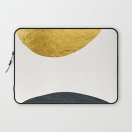Golden sun warms the cold planet Laptop Sleeve
