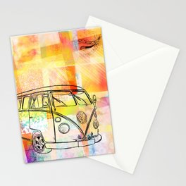 Patchwork Minivan Stationery Cards