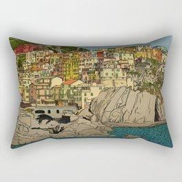 Of Houses and Hills Rectangular Pillow