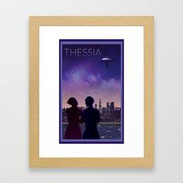 Mass Effect Thessia Travel Poster Framed Art Print