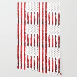 Vintage Stars and stripes Wallpaper