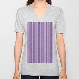 Purple Pinstripes Unisex V-Neck