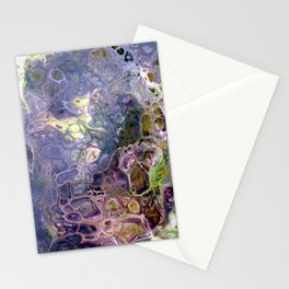 Freeform 25 - Coral Reef Abstract - Flow Acrylic Original Stationery Cards