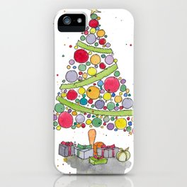 Christmas Tree Sketch iPhone Case
