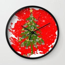 Xmas tree Vignette Wall Clock