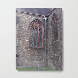Church Windows of Eglwys y Plwyf Santes Elli - Llanelli, Wales Metal Print