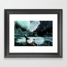 Fly Kids to the Moon Framed Art Print