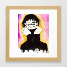 Hiding Insecurity Framed Art Print