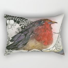 Just Be: Robin Red-Breast Rectangular Pillow