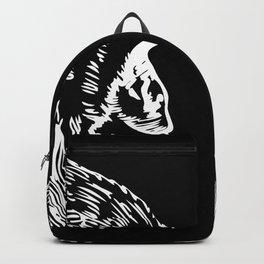 Monkey Silhouette Gift Idea Design Motif Backpack