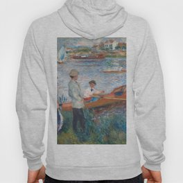 Oarsmen at Chatou Painting by Auguste Renoir Hoody