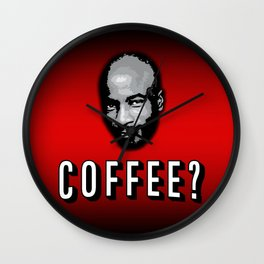 Coffee Lover RED Wall Clock