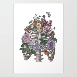 flowering ribs Art Print