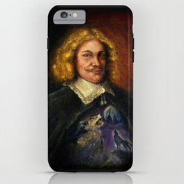 Portrait of a Sweet Dude Rockin a Sweeter than Hell Wolf Shirt  iPhone Case