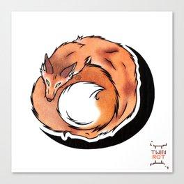 Fox Coil Canvas Print