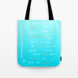 Love speaks in every language Tote Bag