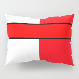 Team Color 6...red,white Pillow Sham
