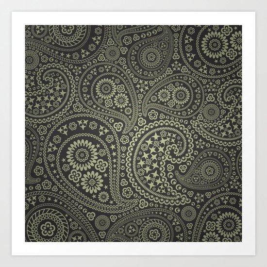 Paisley Stars Art Print