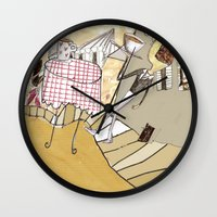 france Wall Clocks featuring France by Lee-or Atsmon Fruin