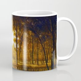 Autumn in the French Countryside, Fontainebleauu Forest landscape painting by Gilbert Munger Coffee Mug