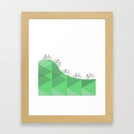 Biking Goals Framed Art Print