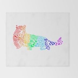 Rainbow Leopard Throw Blanket
