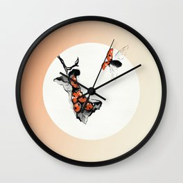 Insects Hole Up in Winter Nests Wall Clock