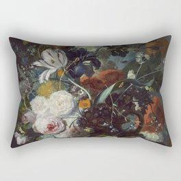 Jan van Huysum Still Life with Flowers and Fruit Rectangular Pillow