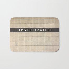 Berlin U-Bahn Memories - Lipschitzallee Bath Mat