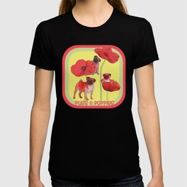 Pugs and Poppies T-shirt