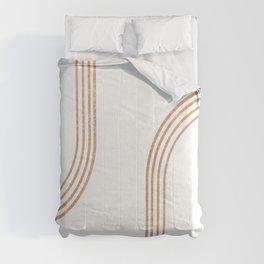 Mid Century Modern 1 - Geometrical Abstract - Minimal Print - Terracotta Abstract - Burnt Sienna Comforters