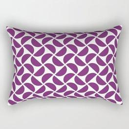 HALF-CIRCLES, PURPLE Rectangular Pillow
