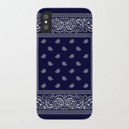 Bandana - Navy Blue - Southwestern iPhone Case