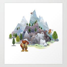 Bear troop Art Print