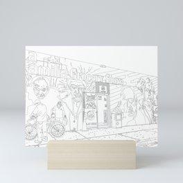 A Shop in Miami Wynwood - Line Art Mini Art Print