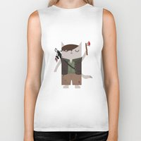 daryl dixon Biker Tanks featuring Daryl Dixon the Cat by The Cat