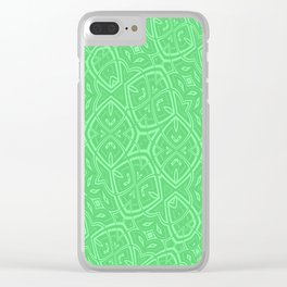 Lime Green Swirl Clear iPhone Case