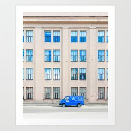 The Blue Art Print