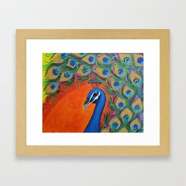 Victoria's Peacock Framed Art Print
