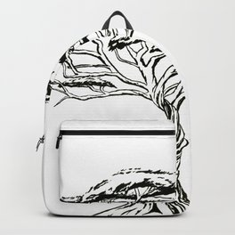 Whistling Thorn , Zen Bonsai African Tree Backpack